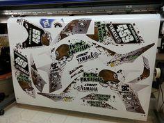 Yamaha YFZ 450 Metal Mulisha atv graphics kit. By Fireblade Graphics.