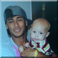 Neymar and little Davi Lucca :)