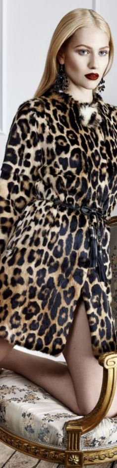 Blugirl Leopard Skin Coat | The House of Beccaria#