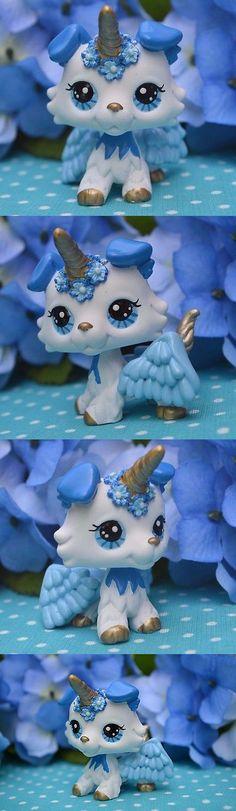Littlest Pet Shop 150925: Littlest Pet Shop Cute Angel Unicorn Collie Dog, Ooak Custom, Hand Painted, Lps -> BUY IT NOW ONLY: $58 on eBay!