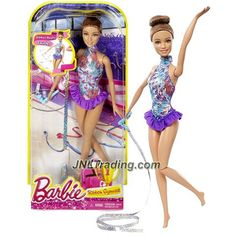 Mattel Year 2015 Barbie Career Series 12 Inch Doll - Teresa As Ribbon Gymnast With Ribbon Twirling Feature New Barbie Dolls, Doll Clothes Barbie, Barbie Toys, Barbie Fashionista, Shopkins, Accessoires Barbie, Birthday Party Games For Kids, Barbie Movies, Girls Series
