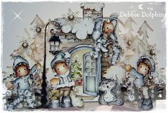 Magnolia cards by Debbie: 'Little Christmas' Collection 2012