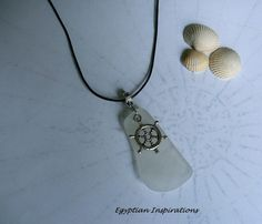 Sea glass necklace. Beach glass necklace.  by EgyptianInspirations, $21.99