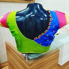 closed neck saree blouse design & closed neck saree blouse + closed neck saree blouse back + closed neck saree blouse long sleeve + closed neck saree blouse indian fashion + closed neck saree blouse design Patch Work Blouse Designs, Kids Blouse Designs, Simple Blouse Designs, Saree Blouse Neck Designs, Stylish Blouse Design, Blouse Patterns, Hand Designs, Blouse Models, Indian Fashion