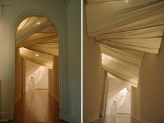 installations by carlie trosclair - Beautiful use of Fabric and Light