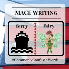 "Difficult word pair: ""ferry"" and ""fairy."" Nee more grammar tips? Check out our editing services: http://www.macewriting.com/editing"