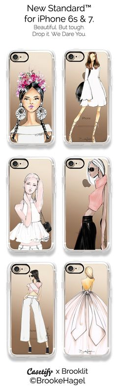 Fashion illustration phone cases by Brooklit iPhone 7 Case by Brooklit | Casetify. @brooklit #FashionIllustration