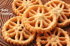 Ruchik Randhap (Delicious Cooking): Recipe Index - Festive Cooking . Holiday Cookie Recipes, Holiday Desserts, Holiday Cookies, Holiday Baking, Christmas Recipes, Christmas Rose, Christmas Sweets, Christmas Goodies, Rose Cookies
