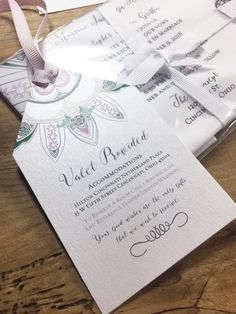 Personalized wedding information tags  hand by PrintmadeStudio