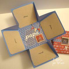Scatola album, carte, cartoncini, fustelle, e chipboard tutto Toga... Cartoncino da 30x30 diviso in 3 parti di 10 cm. in orizzontale e verti...