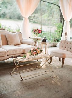 Love the eclectic combination of styles in this reception lounge. The vintage sofa, chic chair, and rustic wooden table mix perfectly to create an elegant and relaxing setting for any wedding lounge set-up. Lounge Seating, Lounge Areas, Outdoor Seating, Bar Lounge, Lounge Party, Seating Plans, Outdoor Lounge, Wedding Reception Seating, Wedding Lounge