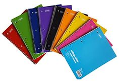 """Staples 1 Subject Notebook College Ruled, 8"""" x 10-1/2"""", 6…"""