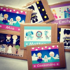 Personalised gift cards made to custom order. Customers can order gift cards to match our personalised storage cases.