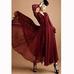 Women Chiffon Maxi Dress