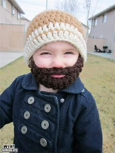Knitted Beard and Cap.