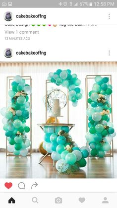 Balloons, bliss ombre sea colors