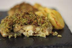 Bacalhau com Crosta de Broa, Presunto e Coentros