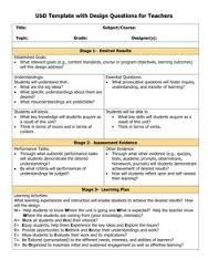 Lesson Plan Template Download Unit Plan And Lesson Plan Templates For Backwards Planning .