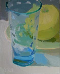 Karen O'Neil: glass, blue, transparent, light, shadow, luminous