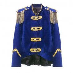 Nieuwe Oeteldonkse jas dames - denimblauw fluweel - PW Hoofs
