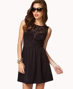 Sweetheart Lace Sleeveless Dress | FOREVER21 - 2058928877