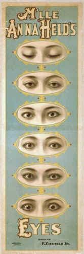 Mlle Anna Held's Eyes Theatre Poster