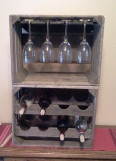 Free Standing Wine Rack wooden crate - Google Search