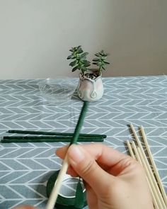 How to make a mini plant shelf with abandoned ice cream sticks. How to make a mini plant shelf with abandoned ice cream sticks. ist gut How to make a mini plant. Diy Home Crafts, Craft Stick Crafts, Paper Crafts, Diy Wedding Video, Wedding Card, Shrink Art, Mini Plants, Geometric Decor, Plant Shelves