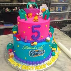 shopkins pool party cake - Google Search