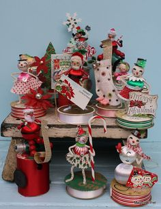 Vintage Style Spun Head Christmas Elf  Merry by MagpieEthel, $21.00