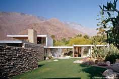 Located in Palm Springs, California, the Kaufmann House was originally designed by architect Richard Neutra in 1946. The restoration returned the residence to its initial form, size, and aesthetic integrity. An important challenge of the restoration was to re-create the dialogue between nature and sculpture, a difficult undertaking in an area that has grown from a rugged desert into a suburban residential neighborhood.