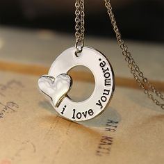 """I Love You More"" Necklace - A gift from the heart - Tag the one you say this too!"