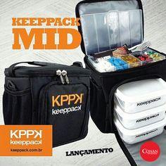 Keeppack Mid é a solução ideal para quem curte um estilo de vida fitness.  São três recipientes para armazenar alimentos e bolsas com gel térmico que garantem a refrigeração dos seus produtos. #Saude #ConanNutrition #Fitness #Keeppack