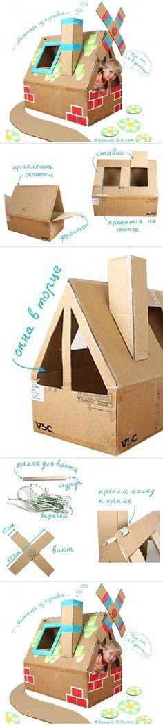 DIY Kids Play House from Carton Box | www.FabArtDIY.com LIKE Us on Facebook ==> https://www.facebook.com/FabArtDIY