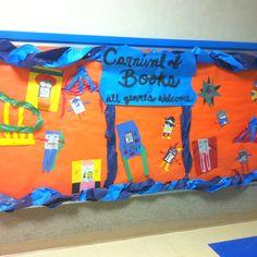 Fun bulletin board for a carnival theme.