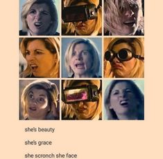 """After hearing that some movie directors actually tell their female leads to show less emotion so that they don't make """"unattractive"""" expressions, seeing Jodie use the hell out of her expressive face just brings me so much joy 😍 Doctor Who Funny, 13th Doctor, Torchwood, Dr Who, Humor, Funny Art, Superwholock, Tardis, Mad Men"""
