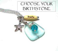 Birthstone Necklace Personalized Jewelry by BlueStoneRiver on Etsy, $25.95