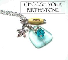 Birthstone Necklace Personalized Jewelry by BlueStoneRiver on Etsy, $25.95