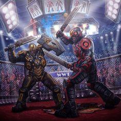 Gladiators, by Víctor Manuel Leza