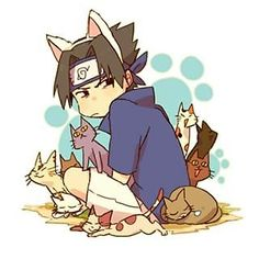 Come on sasuke you know you love all these cats x3