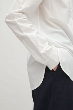 COS image 3 of Classic Cotton Shirt in White