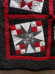 black white red gray  this would be great with navy for a red/white/blue quilt