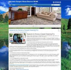 Advance Carpet Cleaning of Lakewood Colorado has a website and a blog. We promote carpet cleaning tips and reasons why you need to use a professional.