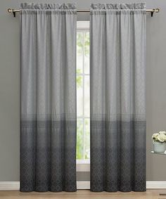Love this Gray Lyon Curtain Panel - Set of Two on #zulily! #zulilyfinds