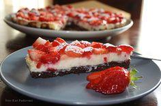 Cheesecake alle fragole senza burro