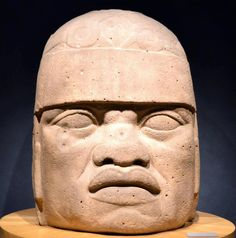 Olmec San Lorenzo Colossal Head 6, Anthropologial Museum  Mexico City
