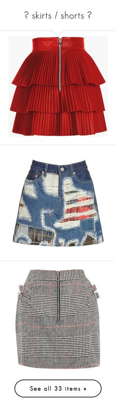 """💟 skirts / shorts 💟"" by seohyun-imnida ❤ liked on Polyvore featuring skirts, mini skirts, short mini skirts, leather miniskirt, pleated mini skirt, pleated miniskirt, pleated leather skirts, bottoms, suknje and indigo x mix"