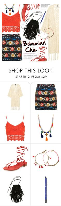 """Bohemian Chic"" by noviii ❤ liked on Polyvore featuring Topshop, Stuart Weitzman, Isabel Marant and Yves Saint Laurent"