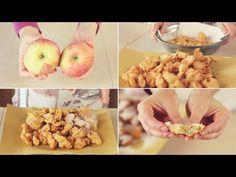 FRITTELLE DI MELA Ricetta Facile - Apple fritters Easy Recipe - YouTube