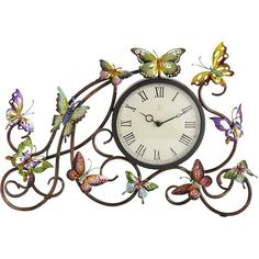 Pier One Butterflies Clock ($40) ❤ liked on Polyvore